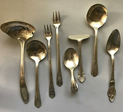 Oneida Silverplate Flatwear ~ Mixed Lot of 8 pc