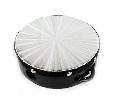 New 6 inch Reflective Double Row B-STock Percussion Tambourine Church Band Music