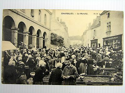 71 Cpa Animee 1910 - Charolles - Le Marche