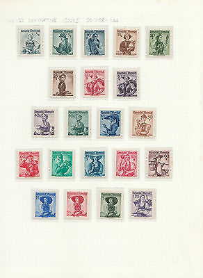 AUSTRIA 1948-52 defins issue of 37 3g. - 10S. comp. LM MINT