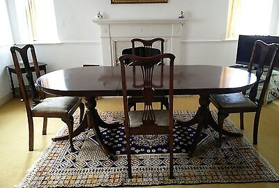 Antique Large extending dining table and 4 Chairs