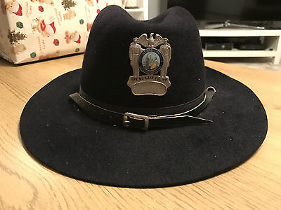Vintage Spring Lake Police Stetson Hat - North Carolina, Usa - With Cap Badge