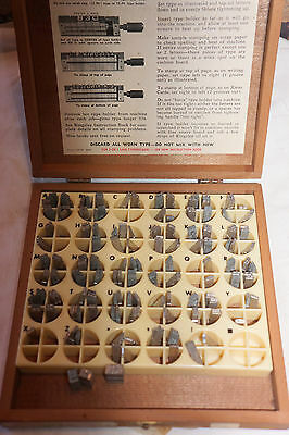 Vintage Kingsley Machine Type 18 Pt. Huxley Hot Foil Stamping with Wood case ..