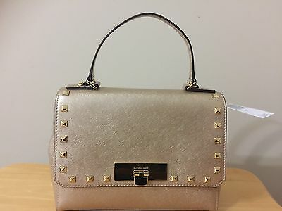 32371b7c2242 MICHAEL KORS CALLIE Studded Saffiano Leather Carryall Wallet In ...