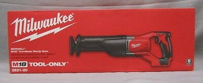 Milwaukee 2621-20 SAWZALL M18 Cordless Reciprocating Saw-TOOL ONLY-BRAND NEW