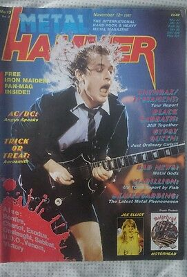 Metal Hammer Uk N° 13 1987 Magazine Ac/dc Anthrax Marillion Black Sabbath Venom