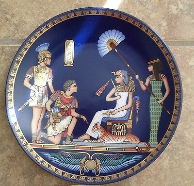 CLEOPATRA, QUEEN OF ANCIENT EGYPT Collection of Fine-Art Porcelain Plates Set 4