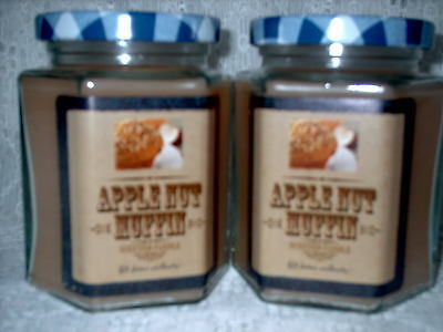 Home Interiors Apple Nut Muffins Candles Set of 2 NIB