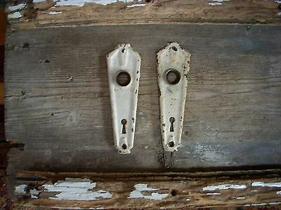 Art Deco Rustic Chippy Shabby Ornate Antique Door Knob Back Plates Arts Crafts