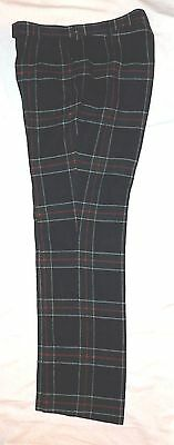 Vintage Mens The Scotch House Tartan Plaid Wool Pants 34 x 32 Made in England