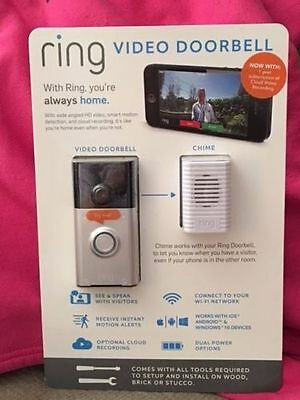 New Ring Wireless Security Home HD Video Doorbell, Camera, Phone, Wi Fi System