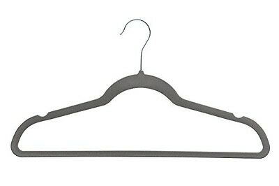 Home-it 50 Pack Clothes Hangers Gray Velvet Hangers Clothes Hanger Ultra Thin No