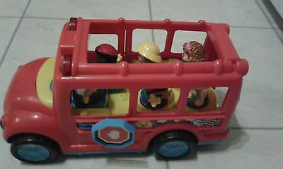 Fisher Price Red School Bus, Wheelchair And Extra People