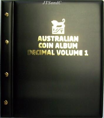 VST Australian Decimal Coin Album Volume 1 - 1966 to December 2015 - Black Cover