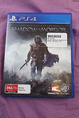 Middle of earth Shadow of Mordor PS4 game good condition