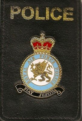 Obsolete RAF Police wallet with badge