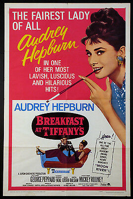 b54e0757290 BREAKFAST AT TIFFANY S Audrey Hepburn R-1965 1-Sheet -  795.00 ...