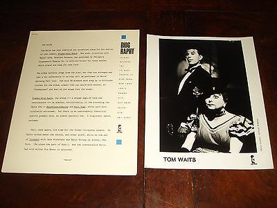 "Rare TOM WAITS ""Frank's Wild Years"" 1987 ISLAND RECORDS PRESSKIT - 9pg Interview"
