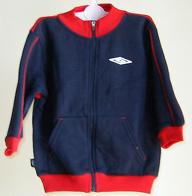 Umbro Full Length Zip Cardigan Sizes 6 months - 18 months Navy & Red BNWT