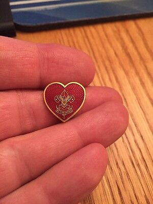 Vintage Unique Boy Scout Red Enamel Mother's Pin