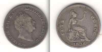 1836, 1836, 1842 & 1855 Silver Fourpence