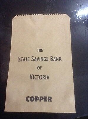 State Savings Bank of Victoria, Copper money bags x5