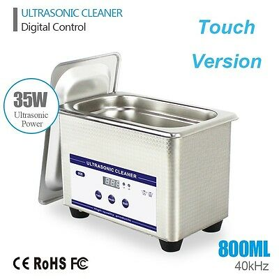 Professional Digital Ultrasonic Cleaner Machine Timer Heated Clean Watch Jewelry