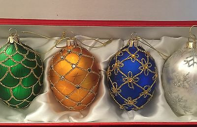 Joan Rivers Ornamental Christmas Eggs Russian Faberge Inspired 1st Series