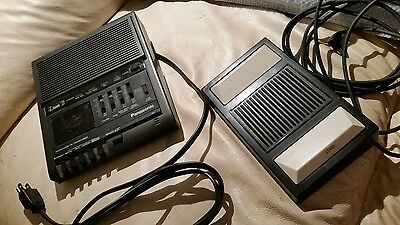 Panasonic RR-930 Microcassette Transcriber w/ Foot Pedal Voice Recorder TESTED