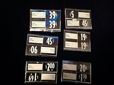 "Vintage 1930-50's Paper Store Price Tags ""New old Stock"" set of 24 Tags  Neato"