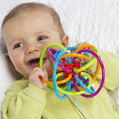 Infant Kid Baby Toddler Toy Winkel Sensory Puzzle Teether Activity Handheld Toys