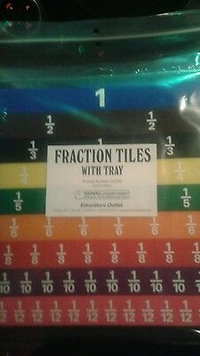 fraction tiles with tray. educators outlet 107242 New