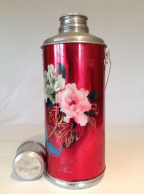 Vintage Deer Brand Red Thermos.
