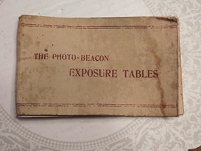 THE PHOTO-BEACON EXPOSURE TABLES 1896 by F. DUNDUS TODD  COLLECTIBLE