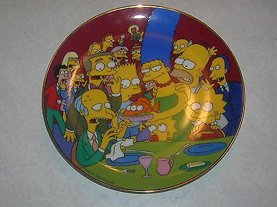 Simpsons Plate Three-Eyed Fish Limited Edition 1992 Smithers Bart Homer Mr Burns