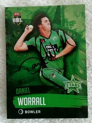 """DANIEL WORRALL CRICKET SIGNED IN PERSON Tap n play BBL CARD """"BUY GENUINE"""""""