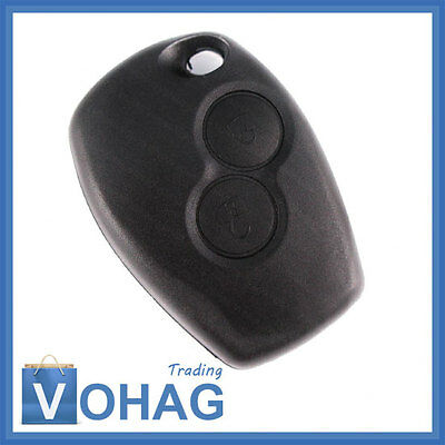 Renault 2 Buttons Remote Control Key without Blank 433 MHz ID46 PCF7946 New