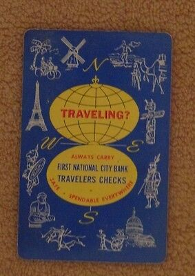 1st National City Bank Travelers Checks 1958 pocket calendar