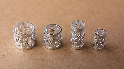 30 Silver Gold Black Filigree Dreadlock Cuffs Dread Hair Beads FREE s/steel ring