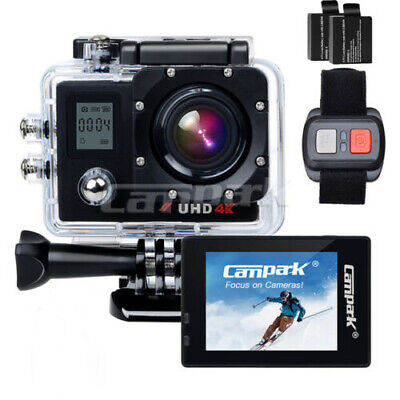 Campark FHD 4K/30fps WIFI Sports Action Camera DVR Cam + Remote Control 170° AU