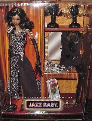BARBIE JAZZ DIVA 2007 L7261 GOLD LABEL African American shipper Jazz baby NRFB