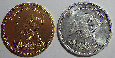 Lot Of 2 Jefferson City Buzzards N I O A Fish & Game Mardi Gras Doubloons