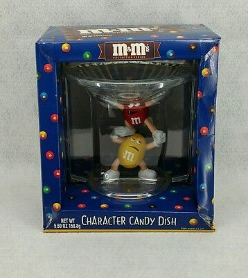 M&M Yelllow & Red Character Candy Dish Bowl Holiday