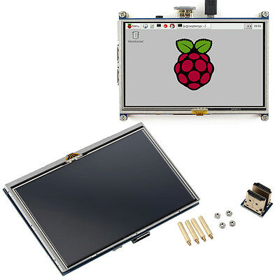 5-inch Resistive Touch Screen LCD Display HDMI for Raspberry Pi XPT2046 AO