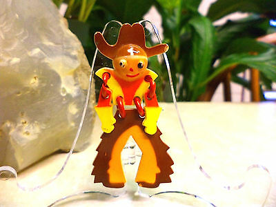 "Vintage WW2 Articulated Cowboy ""Buddy"" Pin Celluloid Early Plastic Brooch"