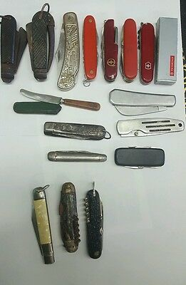 Group of pocket knives 3 German Whale brand, two sheffield and others.