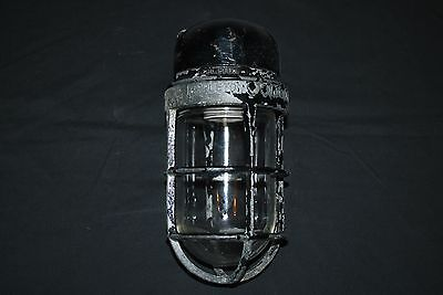 Vintage Appleton Form 100 Weather Proof Industrial Barn Light Fixture Free Ship!