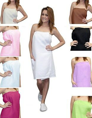 a53fcd6b3c Waffle Bath Wrap Towels with Pocket Spa Bath Robes Choose your Color!! NEW !