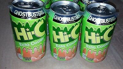 1 Can of Hi-C Ghostbusters Ecto Cooler Thermo Ink Color Changing Unopened