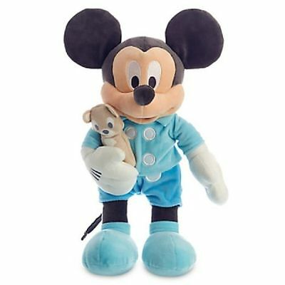 """New Disney World Store Mickey Mouse 15"""" Plush Toy Doll with Teddy Bear for Baby"""